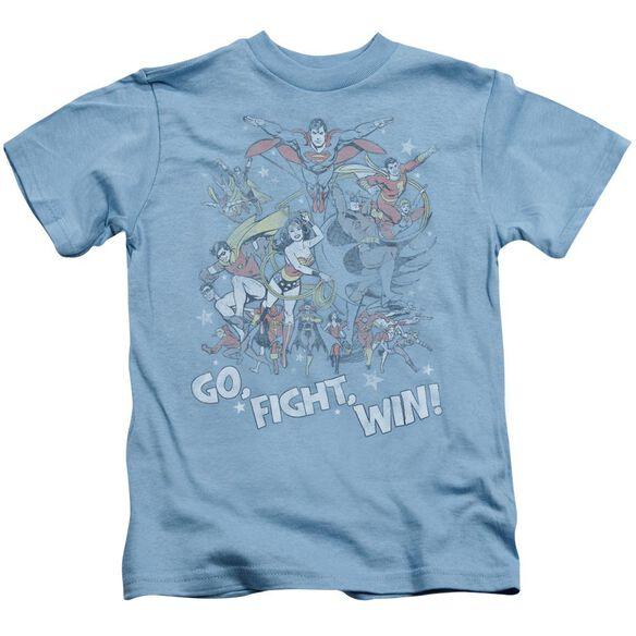 Jla Go Fight Win Short Sleeve Juvenile Carolina Blue Md T-Shirt