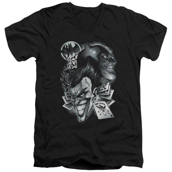 BATMAN ARCHENEMIES - S/S ADULT V-NECK - BLACK T-Shirt