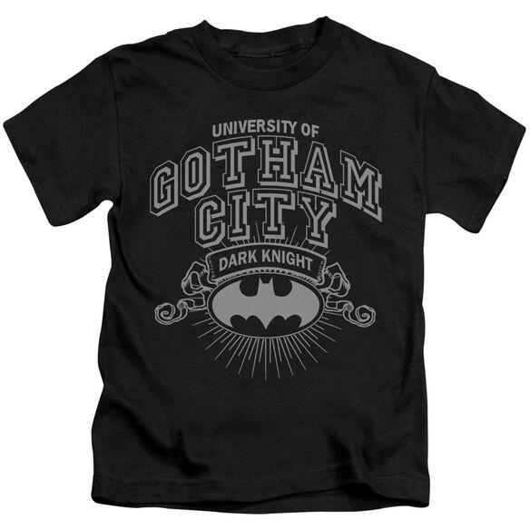Batman University Of Gotham Short Sleeve Juvenile Black T-Shirt