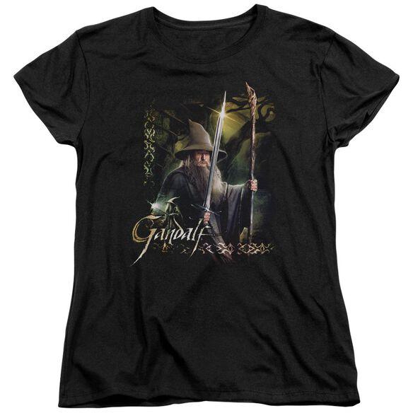 Hobbit Sword And Staff Short Sleeve Womens Tee T-Shirt