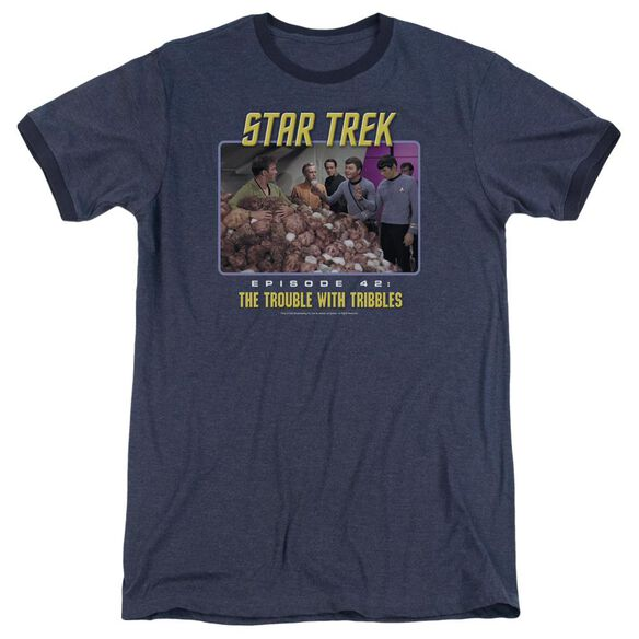 St:Original The Trouble With Tribbles Adult Heather Ringer Navy