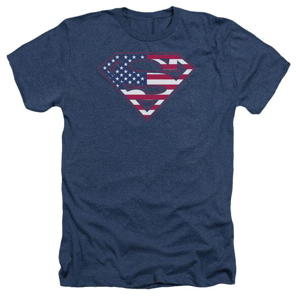 Superman U S Shield Adult Heather