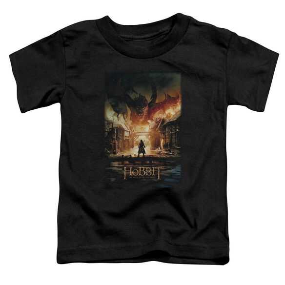 Hobbit Smaug Poster Short Sleeve Toddler Tee Black T-Shirt