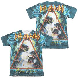 Def Leppard Hysteria (Front Back Print) Adult Poly Cotton Short Sleeve Tee T-Shirt