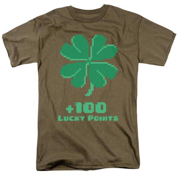 Lucky Points Short Sleeve Adult Safari Green T-Shirt