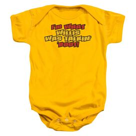 Talkin Bout Infant Snapsuit Gold Md