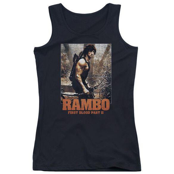 Rambo:First Blood Ii The Hunt Juniors Tank Top