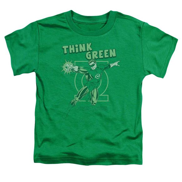 Dc Think Green Short Sleeve Toddler Tee Kelly Green Lg T-Shirt