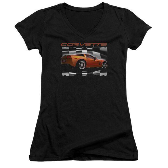 Chevrolet Orange Z06 Vette Junior V Neck T-Shirt