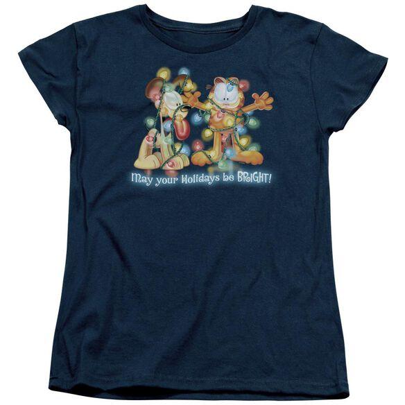 Garfield Bright Holidays Short Sleeve Womens Tee T-Shirt