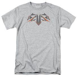 Batman V Superman Tech Bat Logo Short Sleeve Adult Athletic Heather T-Shirt