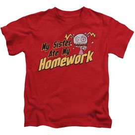 My Sister Ate My Homework Short Sleeve Juvenile Red Md T-Shirt