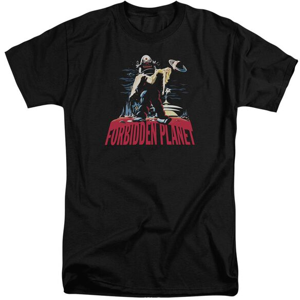 Forbidden Planet Robby And Woman Short Sleeve Adult Tall T-Shirt
