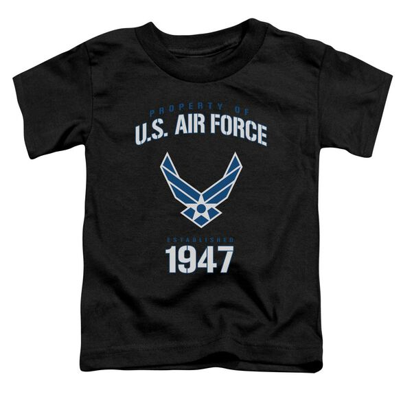 Air Force Property Of Short Sleeve Toddler Tee Black T-Shirt