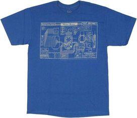 Warehouse 13 Blueprint T-Shirt