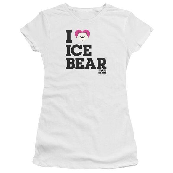 We Bare Bears Heart Ice Bear Hbo Short Sleeve Junior Sheer T-Shirt