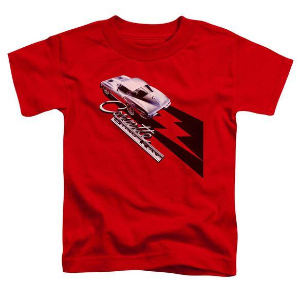 Chevrolet Split Window Sting Ray Short Sleeve Toddler Tee Red T-Shirt