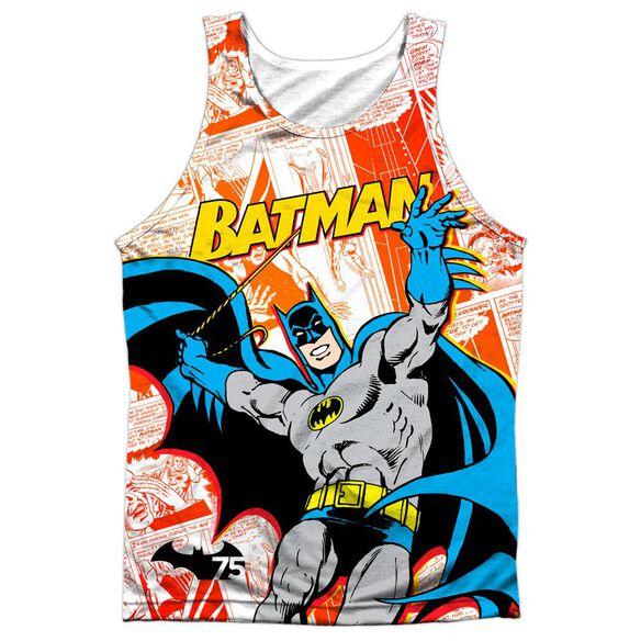 Batman 75 Panels Adult 100% Poly Tank Top