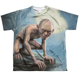 Lor Gollum Moon Short Sleeve Youth Poly Crew T-Shirt