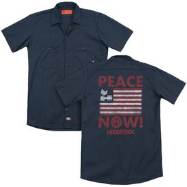 Woodstock Peace Now(Back Print) Adult Work Shirt