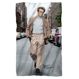 James Dean Colorful Walk Fleece Blanket
