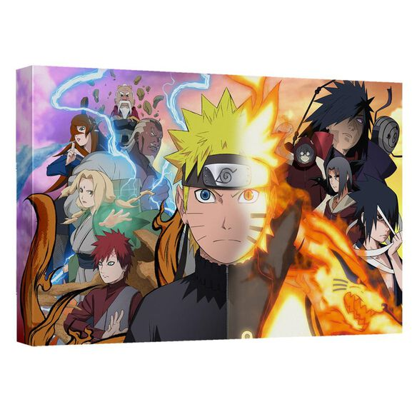 Naruto Speed Poster Canvas Wall Art With Back Board