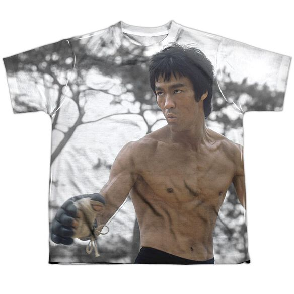 Bruce Lee Battle Ready Short Sleeve Youth Poly Crew T-Shirt