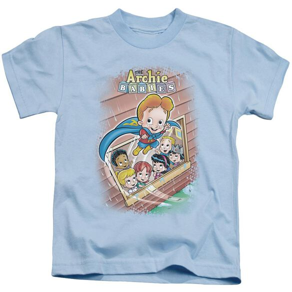 Archie Babies Rainy Day Hero Short Sleeve Juvenile Light Blue T-Shirt