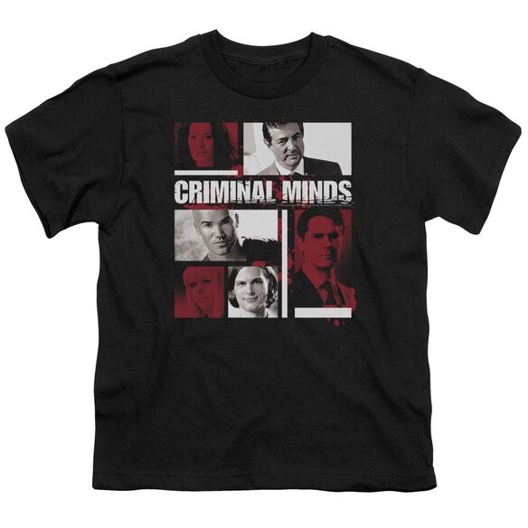 Criminal Minds Character Boxes Short Sleeve Youth T-Shirt