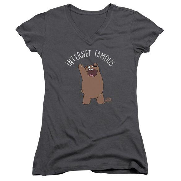 We Bare Bears Internet Famous Junior V Neck T-Shirt