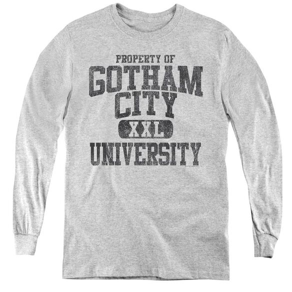 Batman Property Of Gcu - Youth Long Sleeve Tee - Athletic Heather