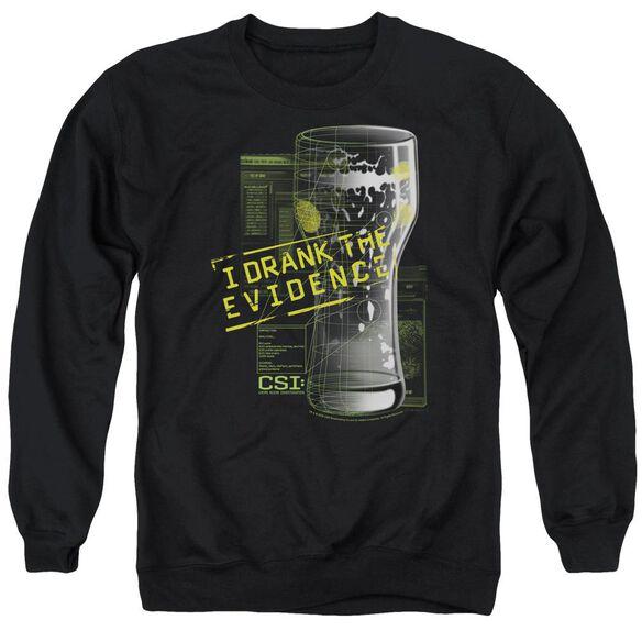 Csi I Drank The Evidence - Adult Crewneck Sweatshirt - Black