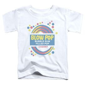 Tootsie Roll Blow Pop Label Short Sleeve Toddler Tee White Lg T-Shirt
