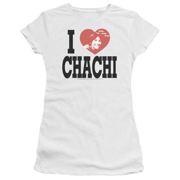 Happy Days I Heart Chachi Short Sleeve Junior Sheer T-Shirt