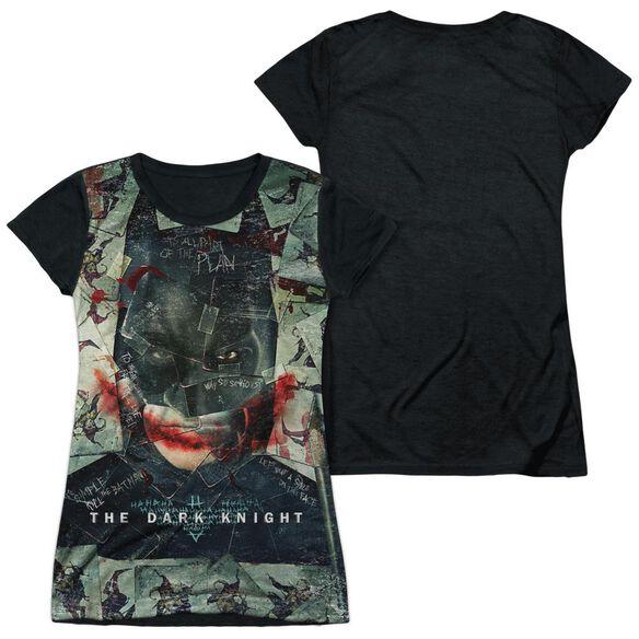 Dark Knight Stacked Hand Short Sleeve Junior Poly Black Back T-Shirt