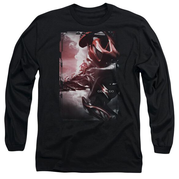 Power Rangers Red Zord Poster Long Sleeve Adult T-Shirt