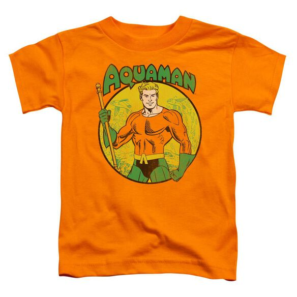 Dc Aquaman Short Sleeve Toddler Tee Orange Lg T-Shirt
