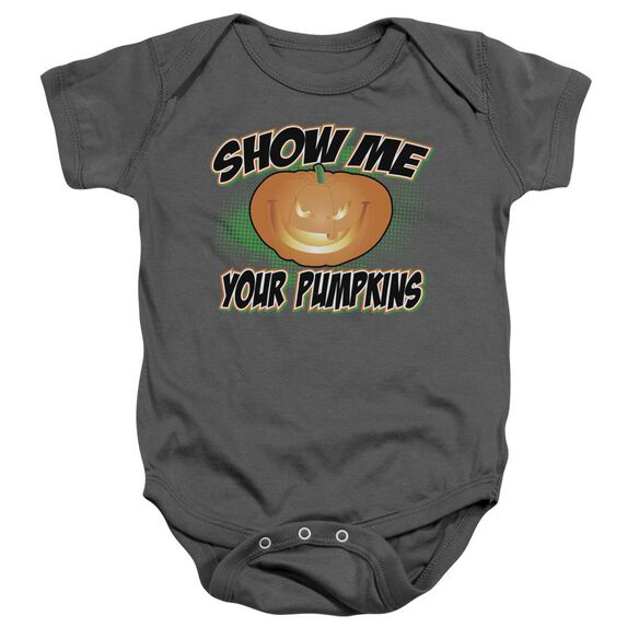 Show Me Infant Snapsuit Charcoal