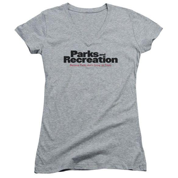 Parks And Rec Logo Junior V Neck Athletic T-Shirt