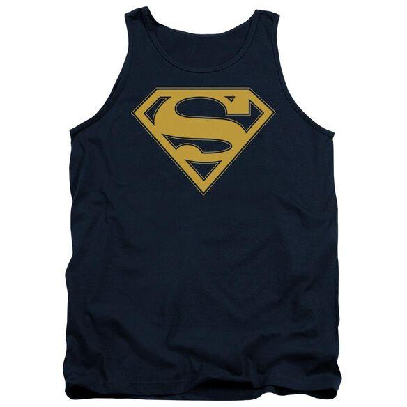 Superman Maize & Blue Shield Adult Tank