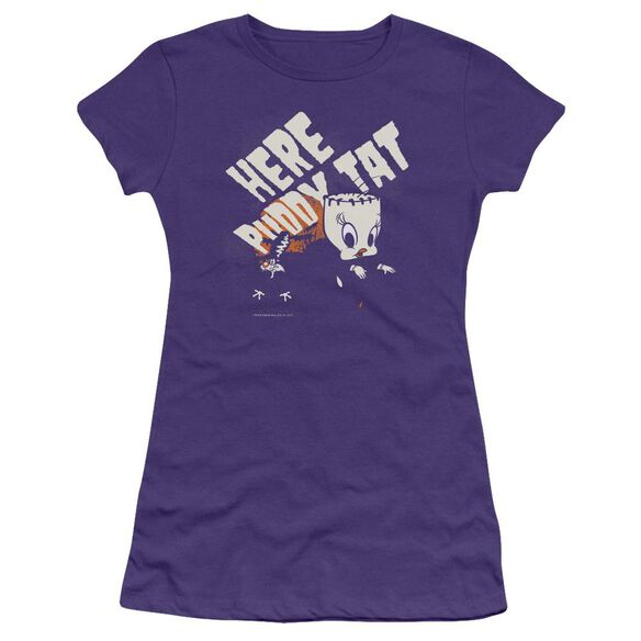 Looney Tunes Franken Tweety Short Sleeve Junior Sheer T-Shirt
