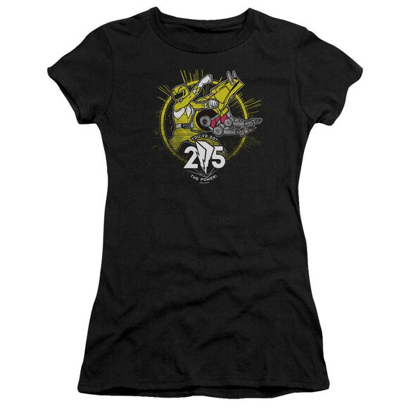 Power Rangers Yellow 25 Short Sleeve Junior Sheer T-Shirt