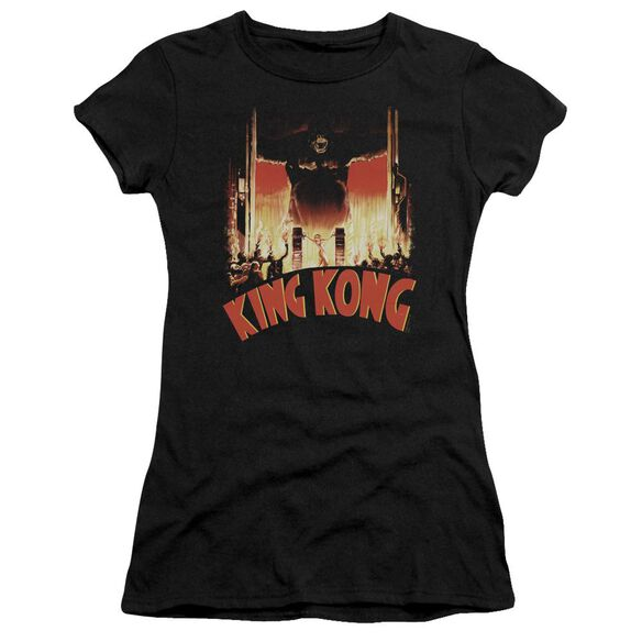 King Kong At The Gates Short Sleeve Junior Sheer T-Shirt