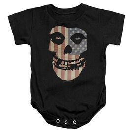 Misfits Fiend Flag Infant Snapsuit Black