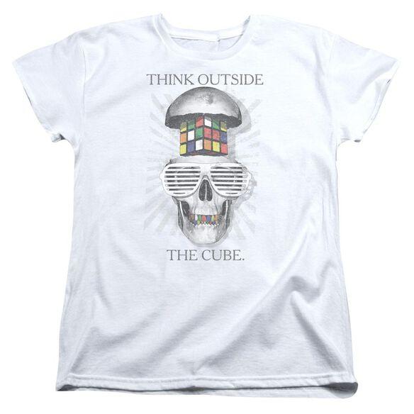 Rubiks Cube Outside The Cube Short Sleeve Womens Tee T-Shirt