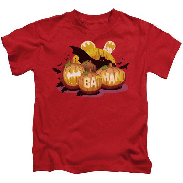 Batman Bat O Lanterns Short Sleeve Juvenile Red Md T-Shirt