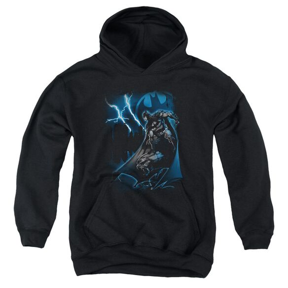 Batman Lightning Strikes Youth Pull Over Hoodie