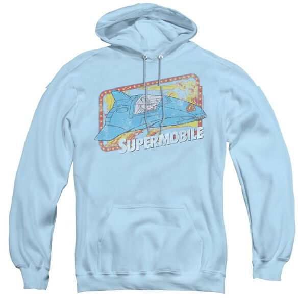 Dc Supermobile - Adult Pull-over Hoodie - Light Blue