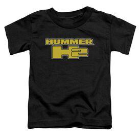 Hummer H2 Block Logo Short Sleeve Toddler Tee Black T-Shirt
