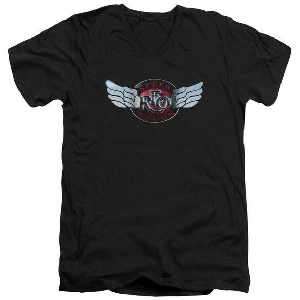 Reo Speedwagon Rendered Logo Short Sleeve Adult V Neck T-Shirt
